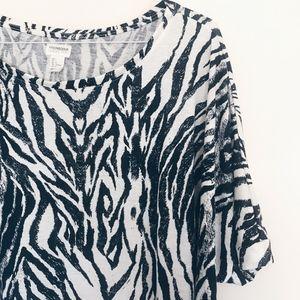 H&M Conscious Collection Zebra Dolman Sleeve Top